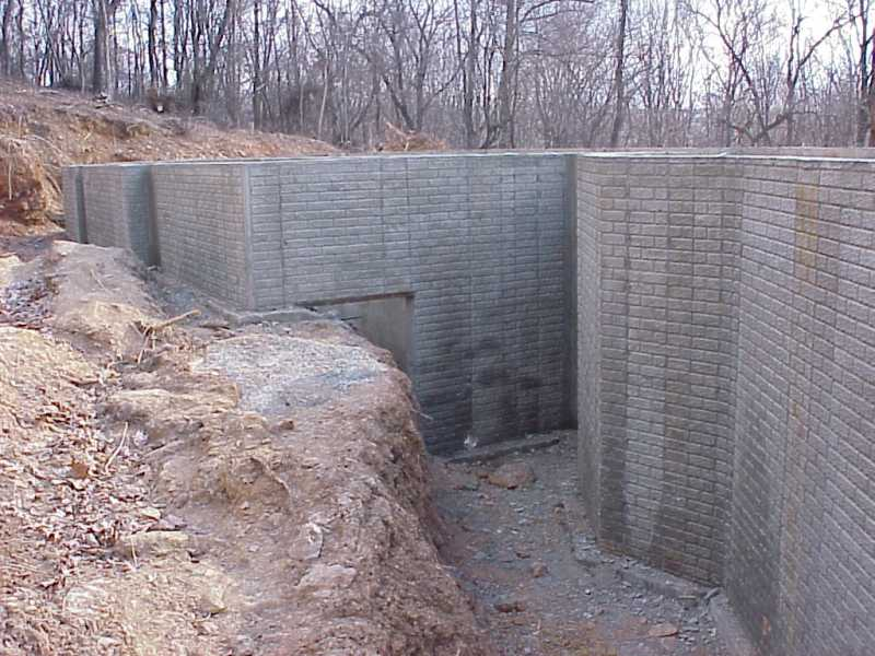 Our house basement walls poured for Pouring a basement
